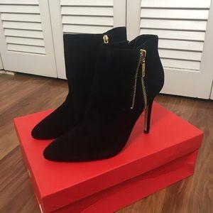Ivanka Trump black leather heeled boots sz 8.5
